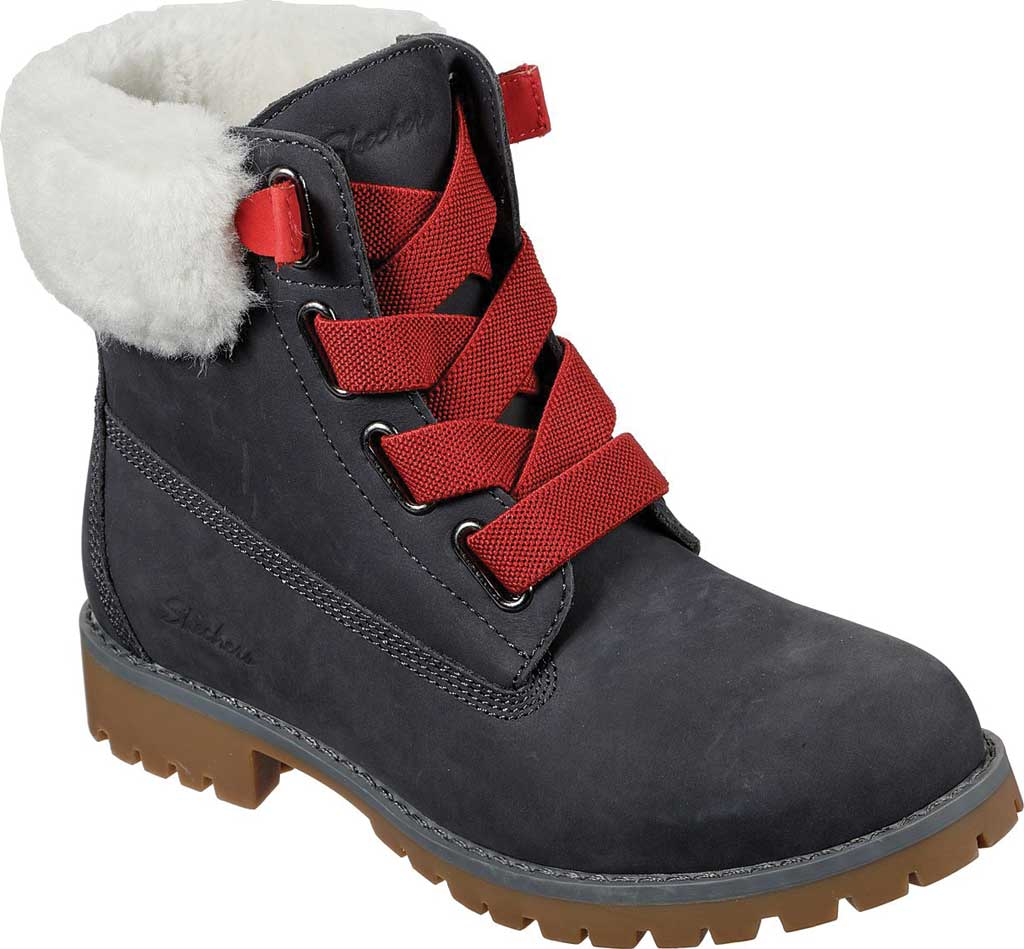 Women's Skechers Cypress Big Plans Ankle Boot, Charcoal, large, image 1