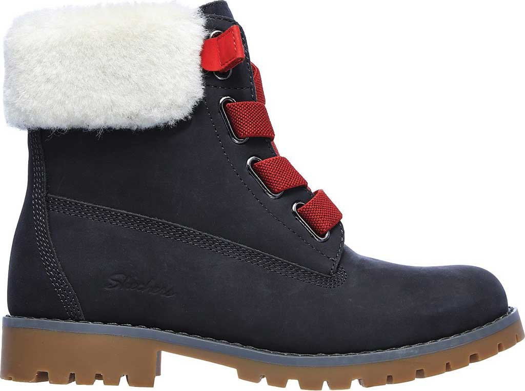 Women's Skechers Cypress Big Plans Ankle Boot, Charcoal, large, image 2