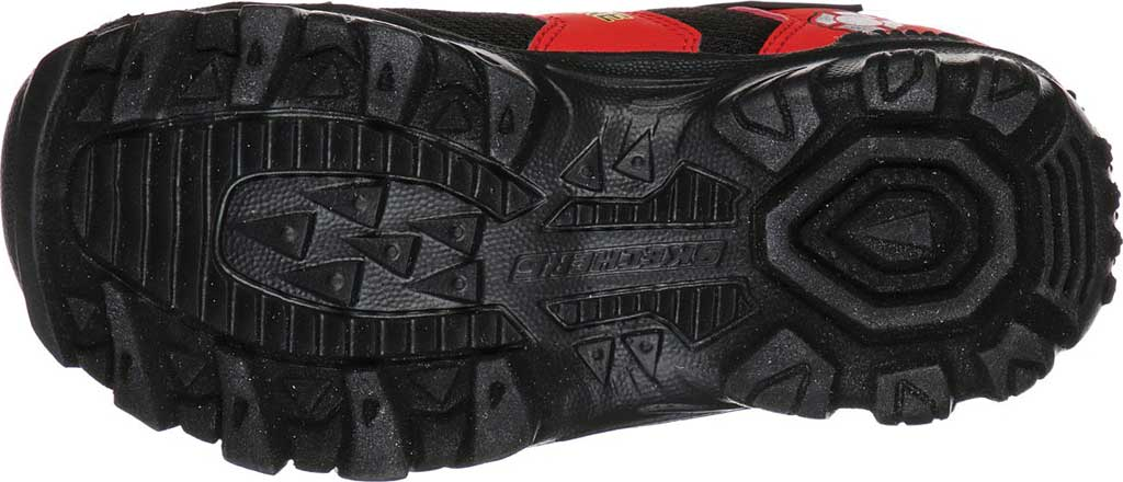 Boys' Skechers Hot Lights Damager III Fire Stopper Sneaker, Black/Red, large, image 5