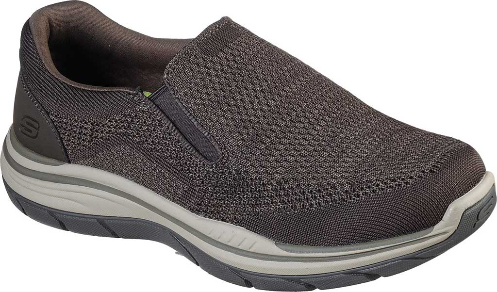 Men's Skechers Relaxed Fit Expected 2.0 Arago Slip-On, Olive/Brown, large, image 1