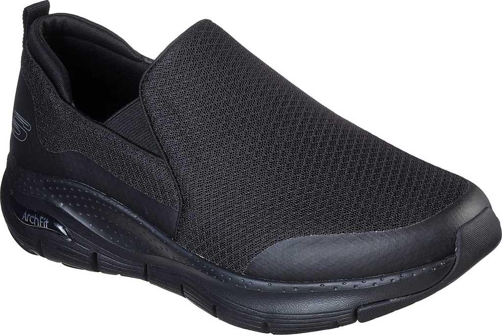 Men's Skechers Arch Fit Banlin Slip-On, Black/Black, large, image 1
