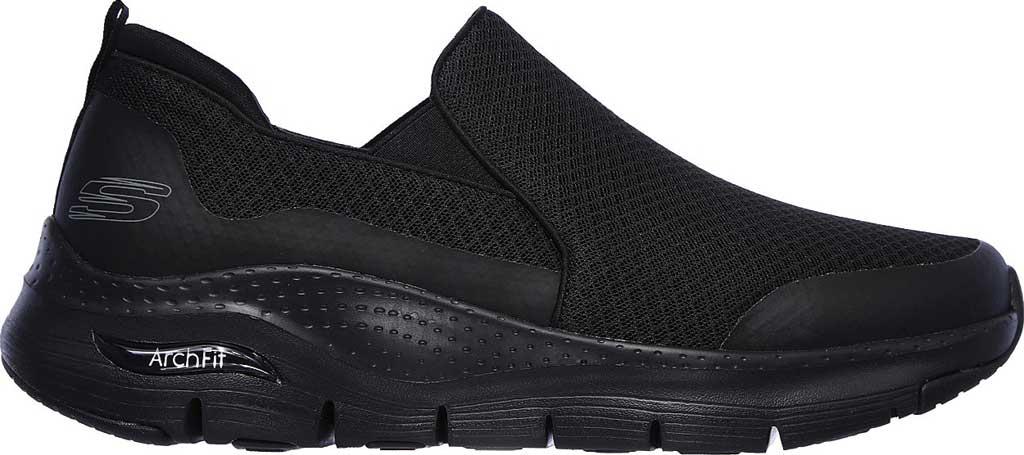 Men's Skechers Arch Fit Banlin Slip-On, Black/Black, large, image 2