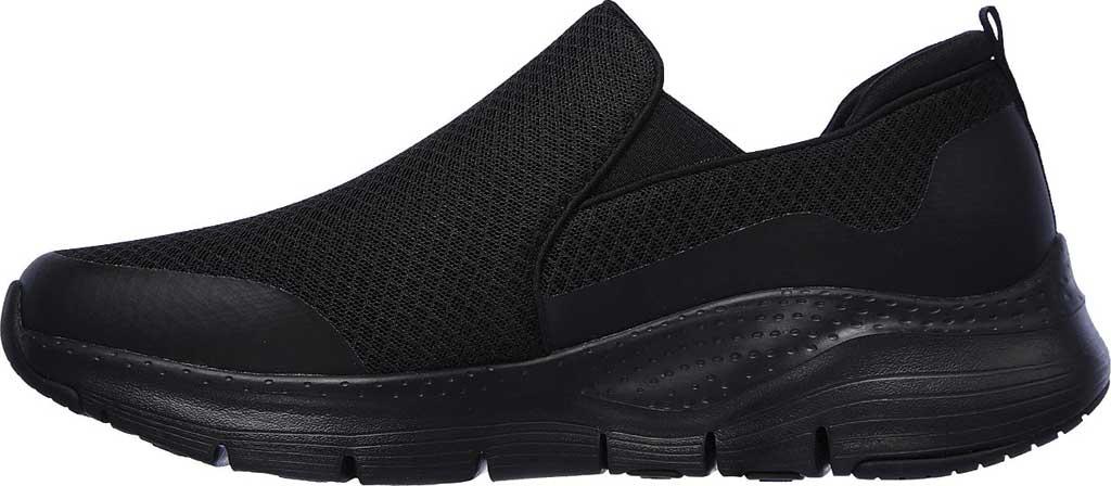 Men's Skechers Arch Fit Banlin Slip-On, Black/Black, large, image 3