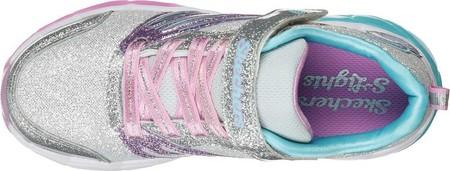 Girls' Skechers S Lights Fusion Flash Sneaker, Silver/Lavender, large, image 4