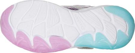 Girls' Skechers S Lights Fusion Flash Sneaker, Silver/Lavender, large, image 5