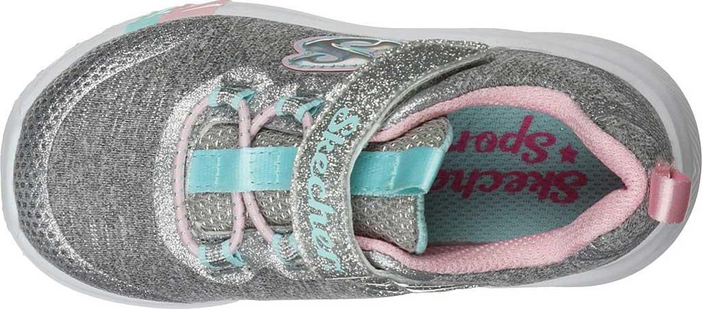 Infant Girls' Skechers Dreamy Lites Sneaker, Light Gray, large, image 4