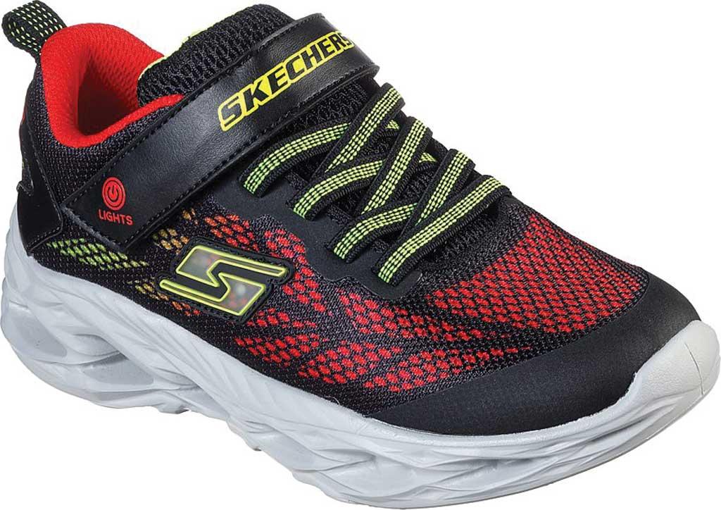 Boys' Skechers S Light Vortex-Flash Sneaker, Black/Red, large, image 1