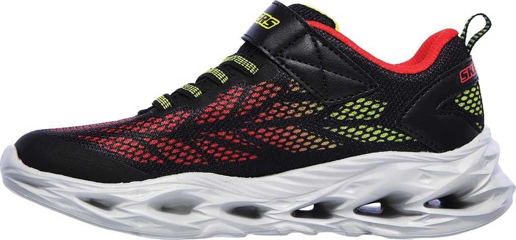 Boys' Skechers S Light Vortex-Flash Sneaker, Black/Red, large, image 3