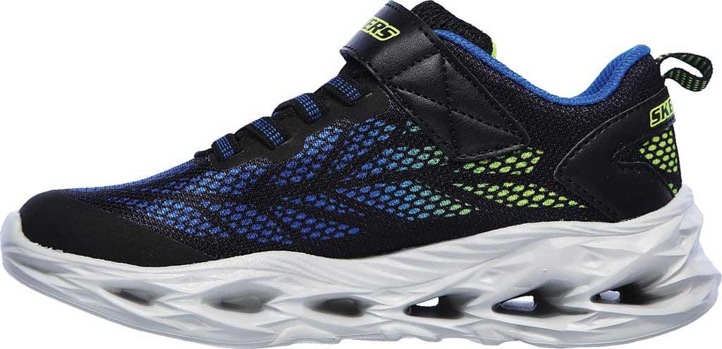 Boys' Skechers S Light Vortex-Flash Sneaker, Black/Blue/Lime, large, image 3