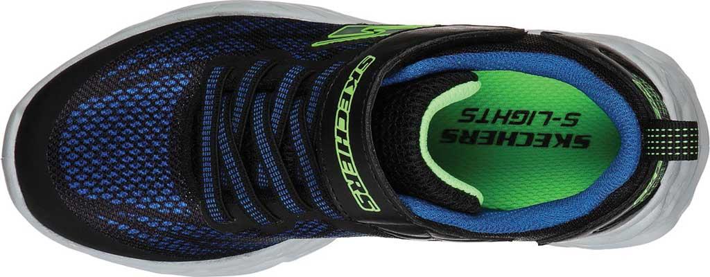 Boys' Skechers S Light Vortex-Flash Sneaker, Black/Blue/Lime, large, image 4