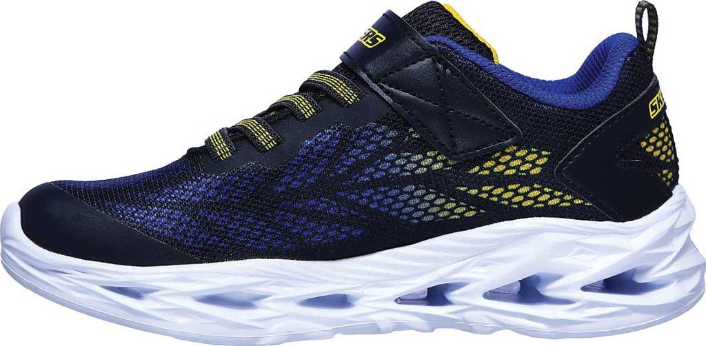 Boys' Skechers S Light Vortex-Flash Sneaker, Navy/Yellow, large, image 3