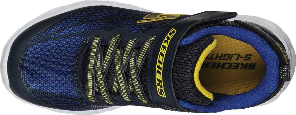 Boys' Skechers S Light Vortex-Flash Sneaker, Navy/Yellow, large, image 4