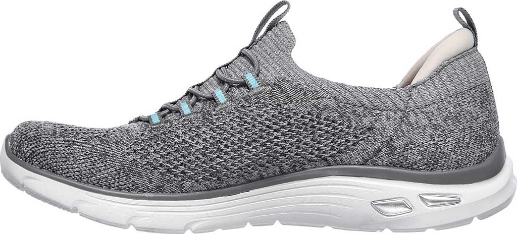 Women's Skechers Relaxed Fit Empire D'Lux Sharp Witted Sneaker, Gray/Light Blue, large, image 3