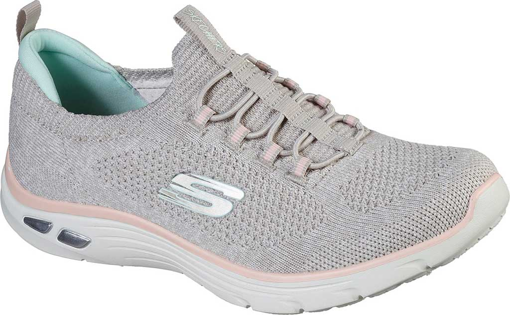 Women's Skechers Relaxed Fit Empire D'Lux Sharp Witted Sneaker, Taupe/Pink, large, image 1