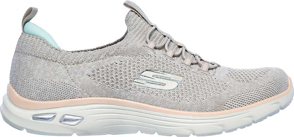 Women's Skechers Relaxed Fit Empire D'Lux Sharp Witted Sneaker, Taupe/Pink, large, image 2