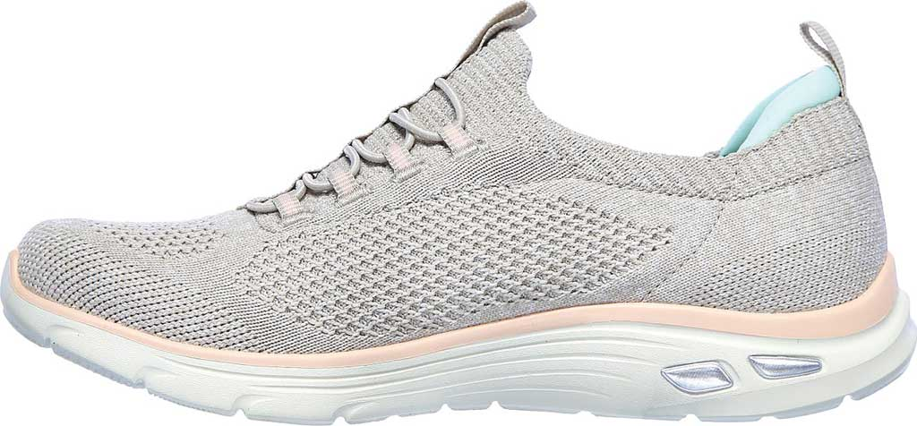 Women's Skechers Relaxed Fit Empire D'Lux Sharp Witted Sneaker, Taupe/Pink, large, image 3