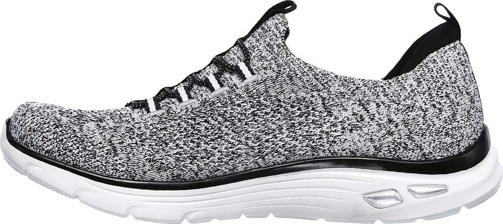 Women's Skechers Relaxed Fit Empire D'Lux Sharp Witted Sneaker, White/Black, large, image 3
