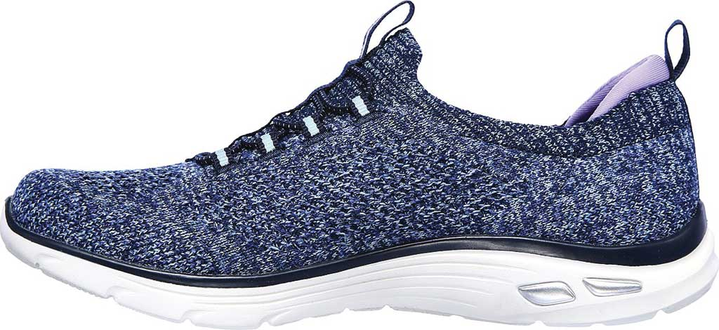 Women's Skechers Relaxed Fit Empire D'Lux Sharp Witted Sneaker, Navy/Aqua, large, image 3