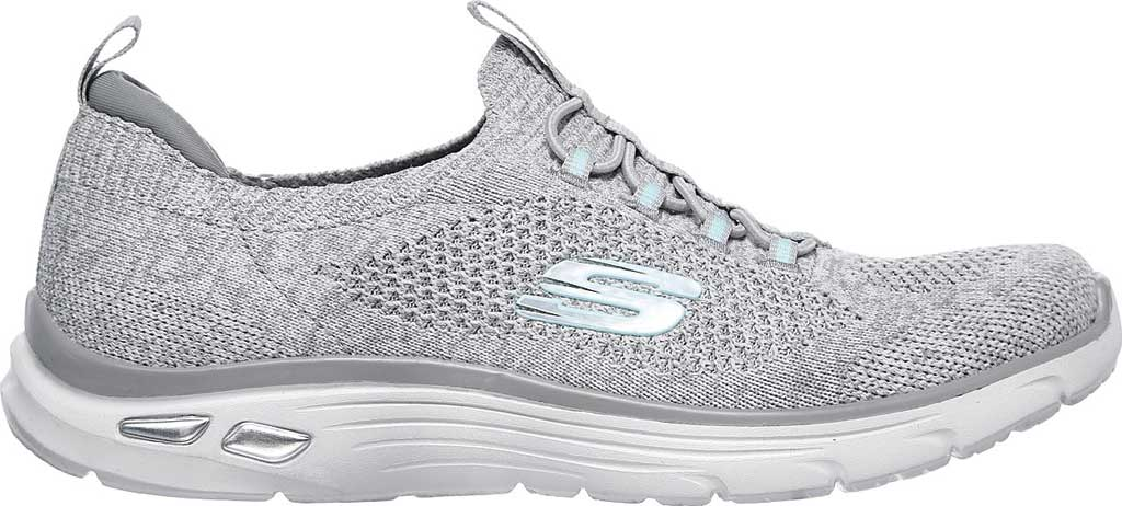 Women's Skechers Relaxed Fit Empire D'Lux Sharp Witted Sneaker, White/Gray, large, image 2