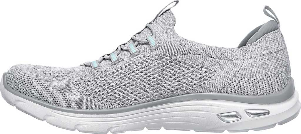 Women's Skechers Relaxed Fit Empire D'Lux Sharp Witted Sneaker, White/Gray, large, image 3