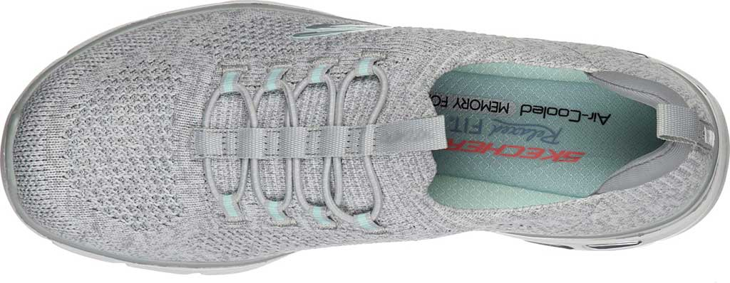 Women's Skechers Relaxed Fit Empire D'Lux Sharp Witted Sneaker, White/Gray, large, image 4
