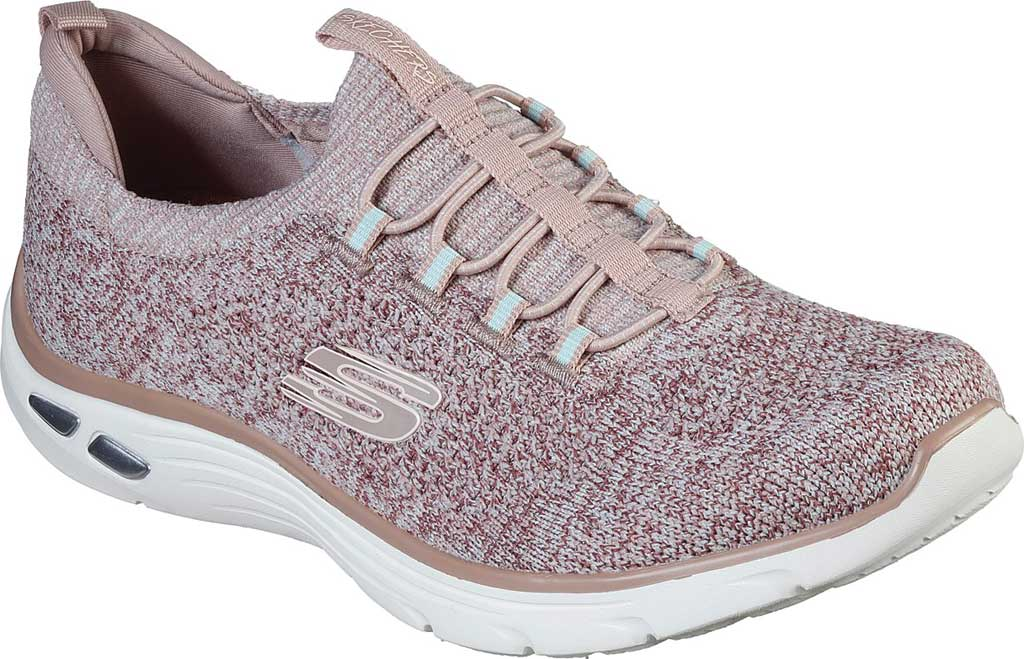 Women's Skechers Relaxed Fit Empire D'Lux Sharp Witted Sneaker, Rose, large, image 1