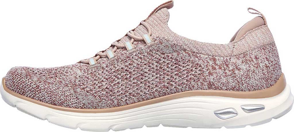 Women's Skechers Relaxed Fit Empire D'Lux Sharp Witted Sneaker, Rose, large, image 3