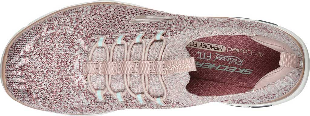 Women's Skechers Relaxed Fit Empire D'Lux Sharp Witted Sneaker, Rose, large, image 4