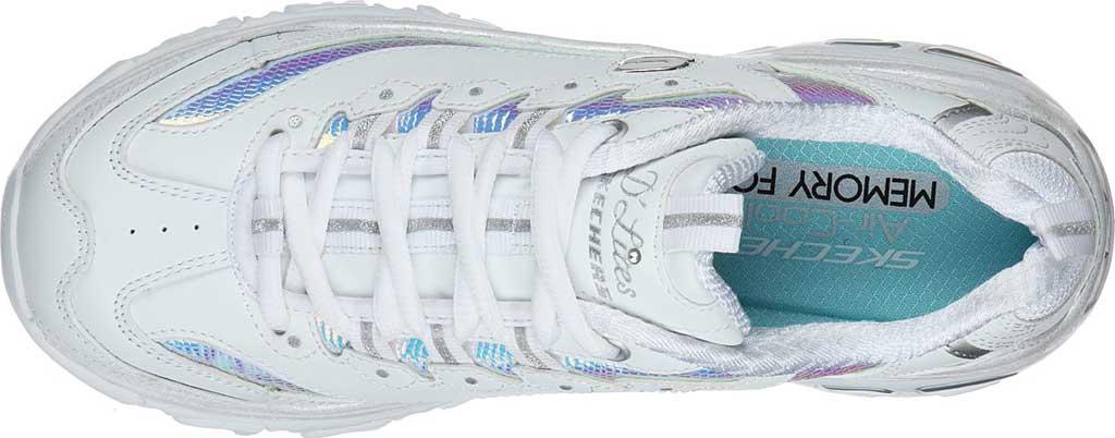 Women's Skechers D'Lites Ocean Dreaming Sneaker, White/Silver, large, image 4