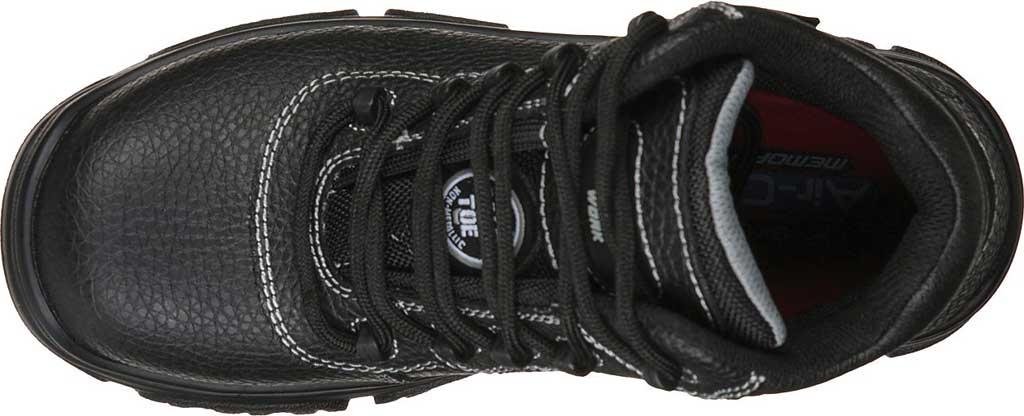 Women's Skechers Work Burgin Coralrow Comp Toe Boot, Black, large, image 4