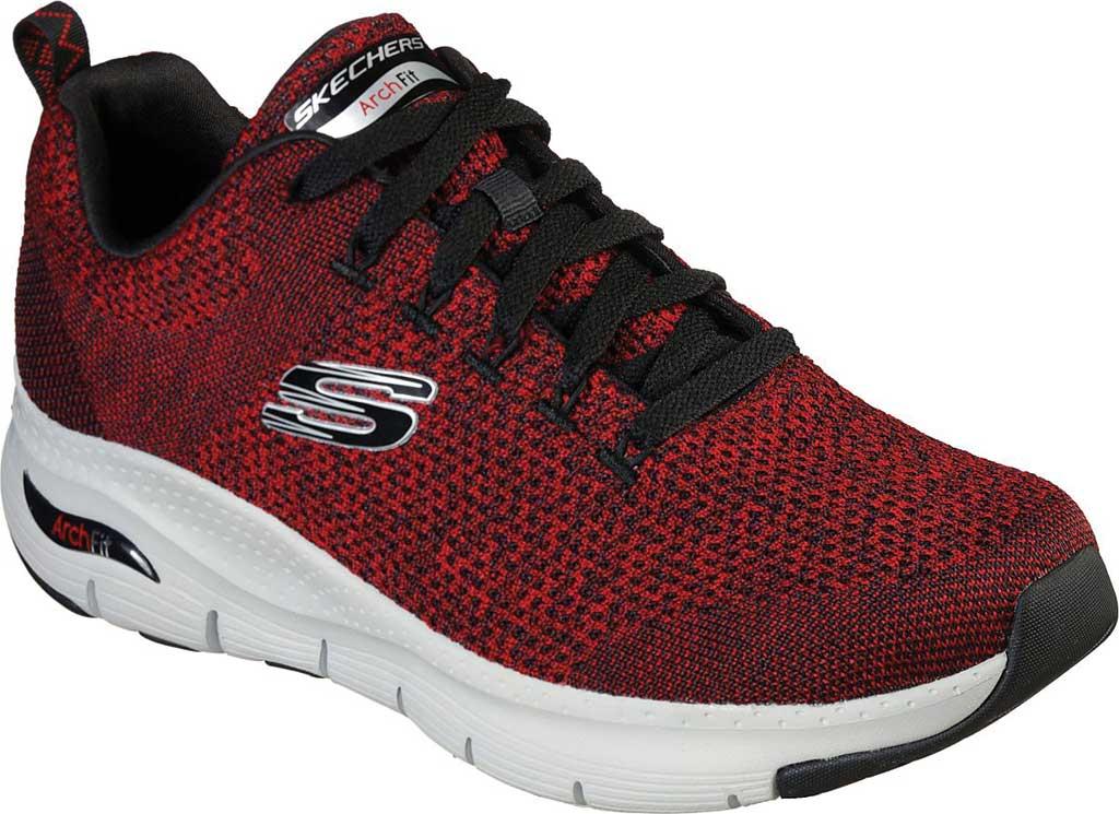 Men's Skechers Arch Fit Paradyme Sneaker, Red/Black, large, image 1