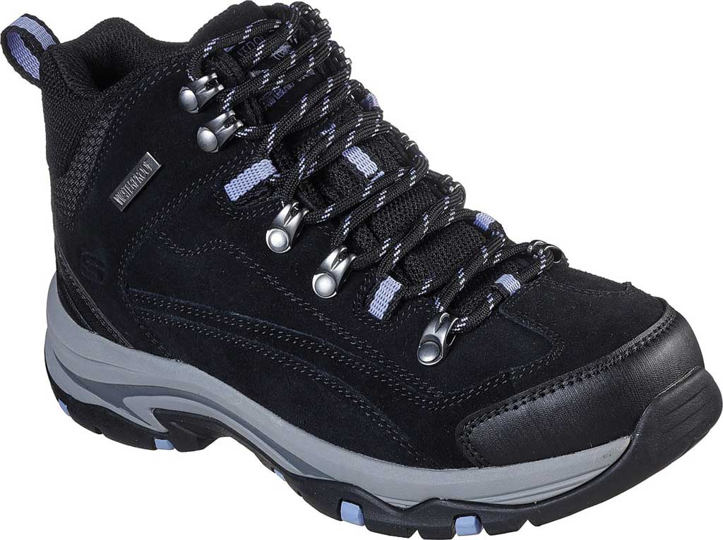 Women's Skechers Relaxed Fit Trego Alpine Trail Hiking Boot, Black/Charcoal, large, image 1