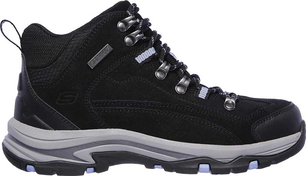 Women's Skechers Relaxed Fit Trego Alpine Trail Hiking Boot, Black/Charcoal, large, image 2