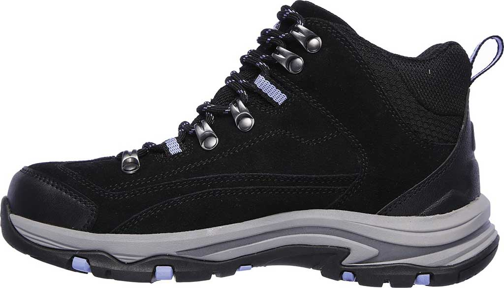 Women's Skechers Relaxed Fit Trego Alpine Trail Hiking Boot, Black/Charcoal, large, image 3