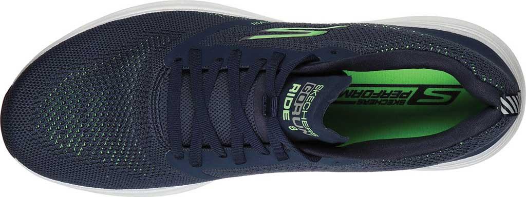 Men's Skechers GOrun Ride 8 Hyper Running Shoe, Navy/Green, large, image 4