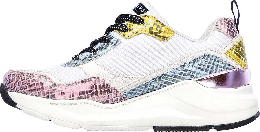 Women's Skechers Rovina Jungle Vibes Sneaker, White/Multi, large, image 3