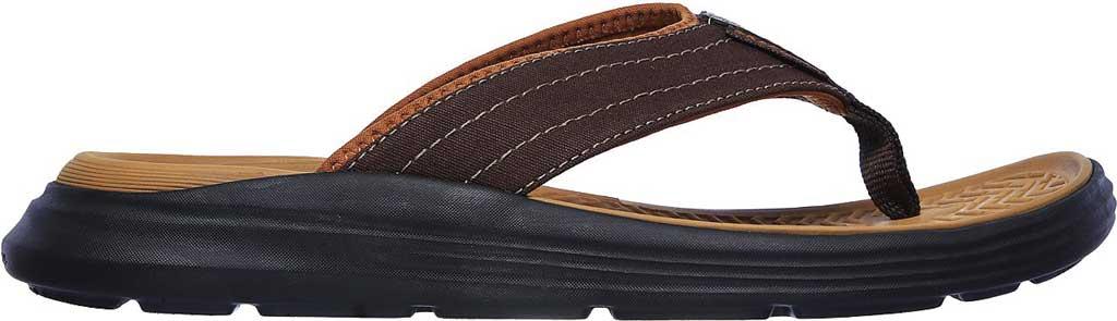 Men's Skechers Relaxed Fit Sargo Reyon Flip Flop, Chocolate, large, image 2