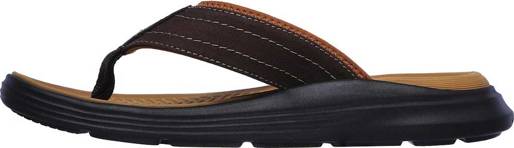 Men's Skechers Relaxed Fit Sargo Reyon Flip Flop, Chocolate, large, image 3