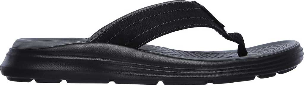 Men's Skechers Relaxed Fit Sargo Reyon Flip Flop, Black, large, image 2
