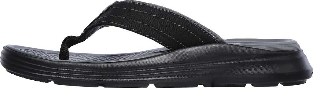 Men's Skechers Relaxed Fit Sargo Reyon Flip Flop, Black, large, image 3