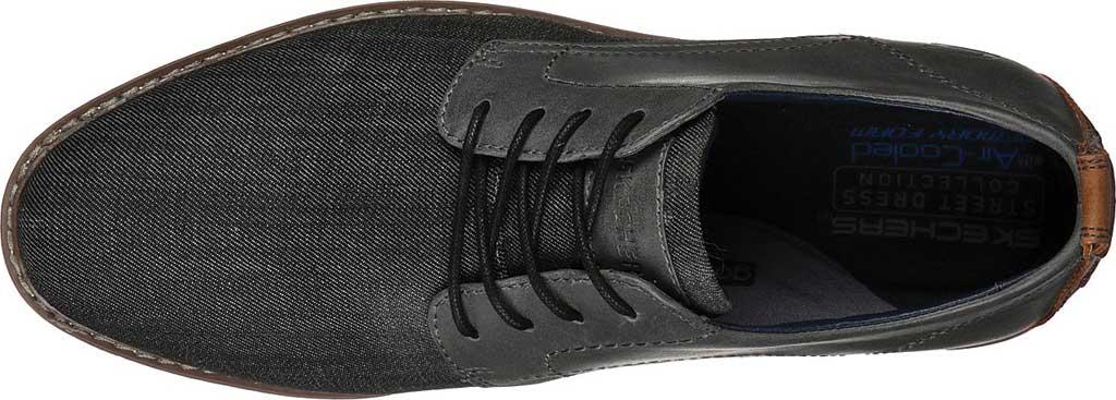 Men's Skechers Bregman Rito Oxford, Charcoal, large, image 4