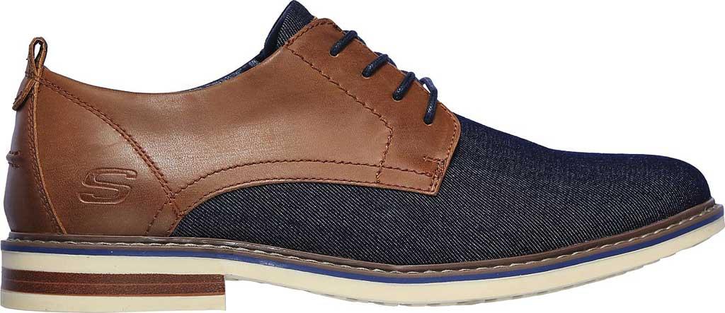 Men's Skechers Bregman Rito Oxford, Navy/Tan, large, image 2