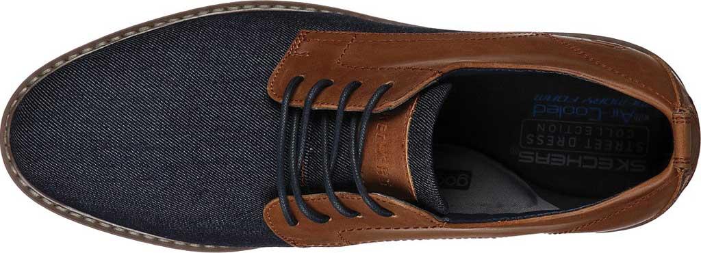 Men's Skechers Bregman Rito Oxford, Navy/Tan, large, image 4