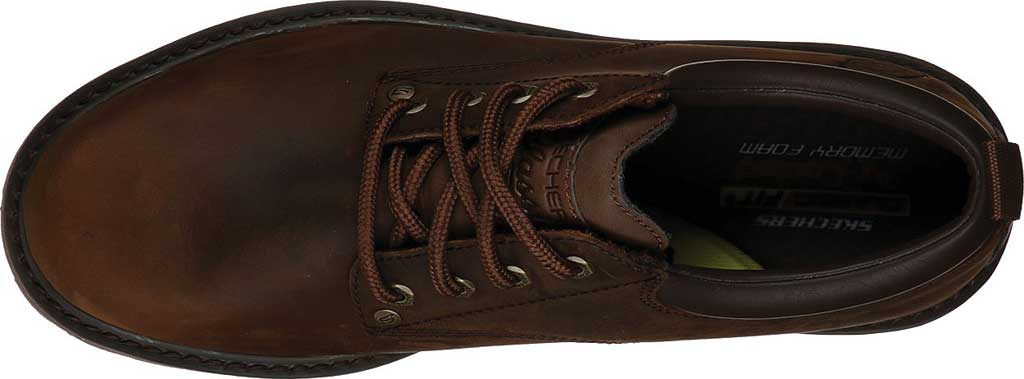 Men's Skechers Alley Cats Mesago Oxford, Chocolate Dark Brown, large, image 4