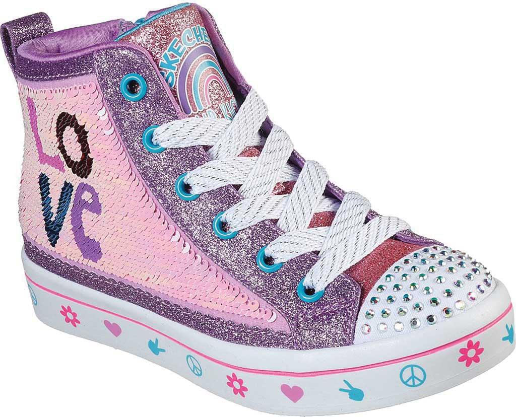 Girls' Skechers Twinkle Toes Twi-Lites 2.0 Lilac Love Sneaker, Lavender/Multi, large, image 1