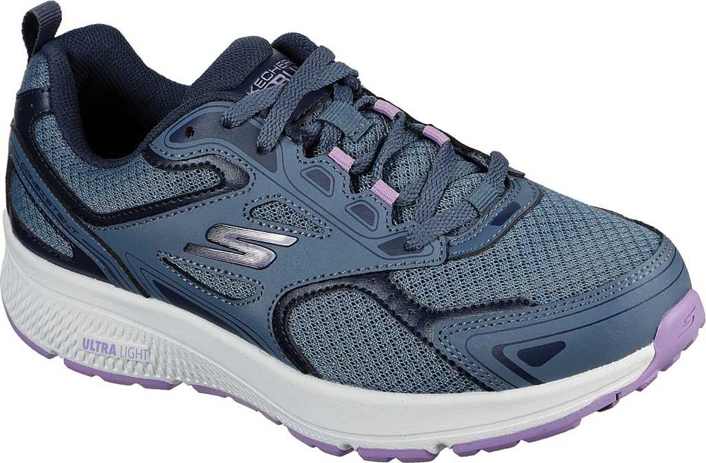 Women's Skechers GOrun Consistent Running Shoe, Blue/Purple, large, image 1