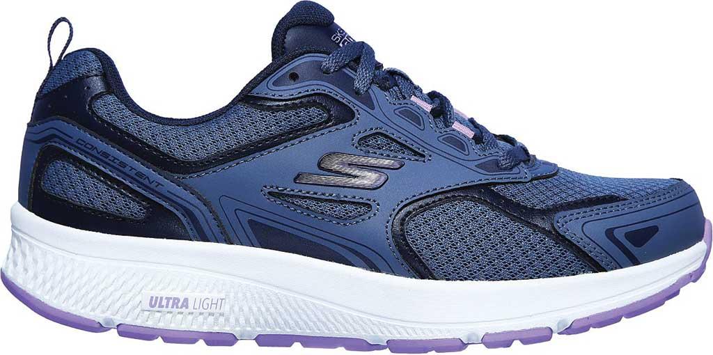 Women's Skechers GOrun Consistent Running Shoe, Blue/Purple, large, image 2
