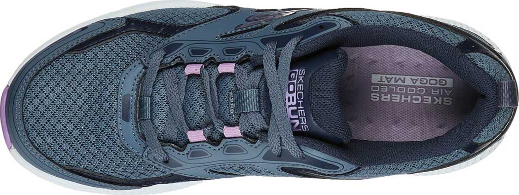 Women's Skechers GOrun Consistent Running Shoe, Blue/Purple, large, image 4