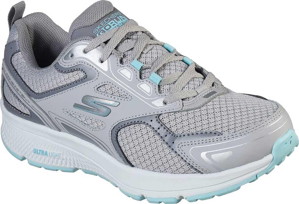 Women's Skechers GOrun Consistent Running Shoe, Gray/Turquoise, large, image 1