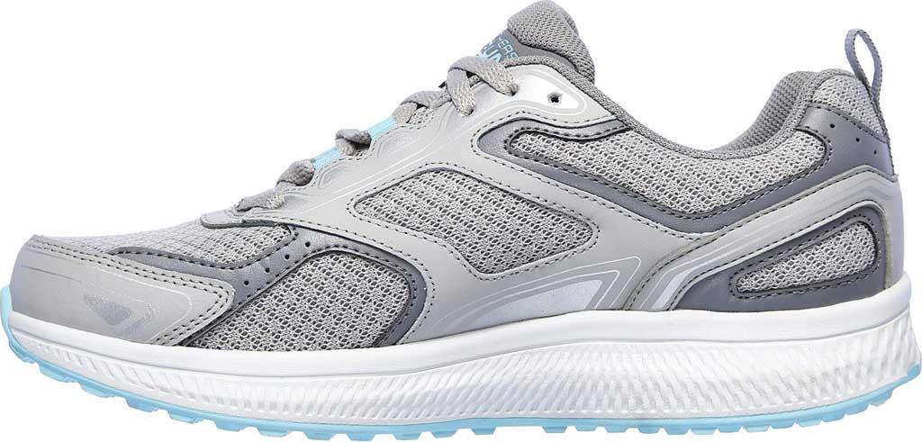 Women's Skechers GOrun Consistent Running Shoe, Gray/Turquoise, large, image 3